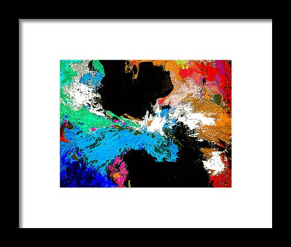 Abstract Framed Print featuring the painting Black Holes by Charles Yates