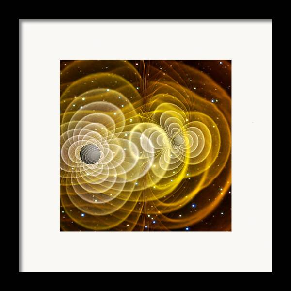 Black Hole Framed Print featuring the photograph Black Holes Merging by Chris Henzenasa