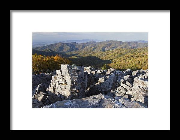 Shenandoah Framed Print featuring the photograph Black Rock Mountain Shenandoah National Park by Pierre Leclerc Photography