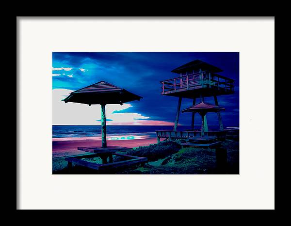 Tower Framed Print featuring the photograph Blacklight Tower by DigiArt Diaries by Vicky B Fuller