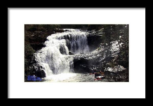Blad River Falls Framed Print featuring the photograph Blad River Falls Tellico Plains by Dale Briggs