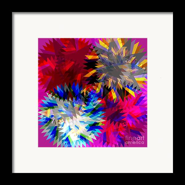 Allure Framed Print featuring the digital art Blade In Pink by Atiketta Sangasaeng