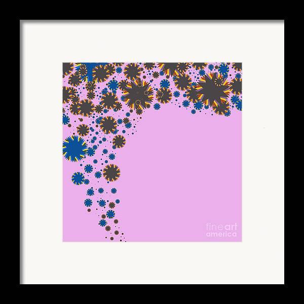 Allure Framed Print featuring the digital art Blades On Purple by Atiketta Sangasaeng
