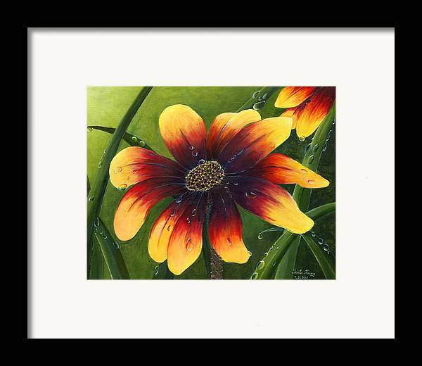 Flower Framed Print featuring the painting Blanket Flower by Trister Hosang
