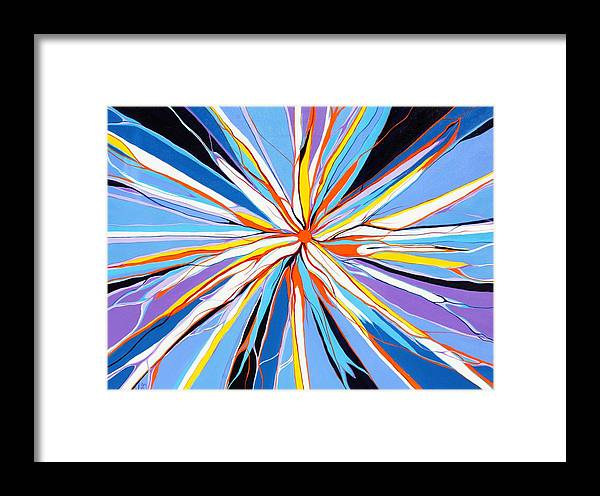 Abstract.modern Framed Print featuring the painting Bleeding Heart by Pat Purdy