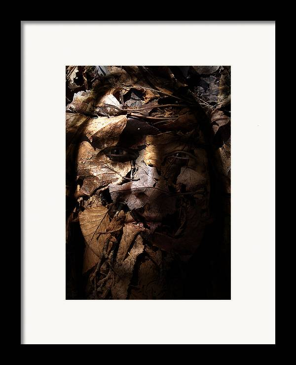 Blend Framed Print featuring the painting Blending In by Christopher Gaston