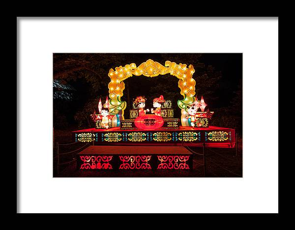 Art Framed Print featuring the photograph Blissful Wedding by Semmick Photo