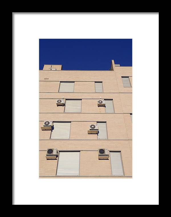 Building Framed Print featuring the photograph Block Of Flats, Spain by Carlos Dominguez