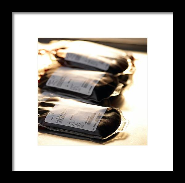 Medicine Framed Print featuring the photograph Blood Bags by Adam Gault