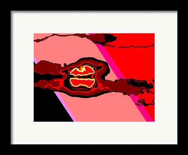 Digital Art Framed Print featuring the digital art Bloody Red Sun Of Fantastic L.a. by Jimi Bush