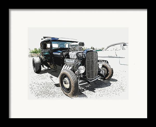 Hot Rod Framed Print featuring the photograph Blown Coupe by Steve McKinzie