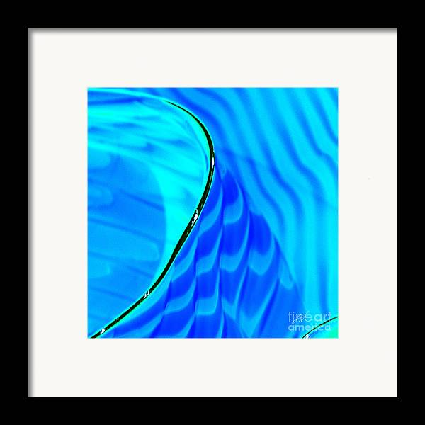 Art Glass Framed Print featuring the photograph Blue And Green by Artist and Photographer Laura Wrede