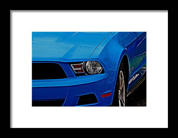 Fords Framed Print featuring the photograph Blue Beauty 001 by Elizabeth Doran