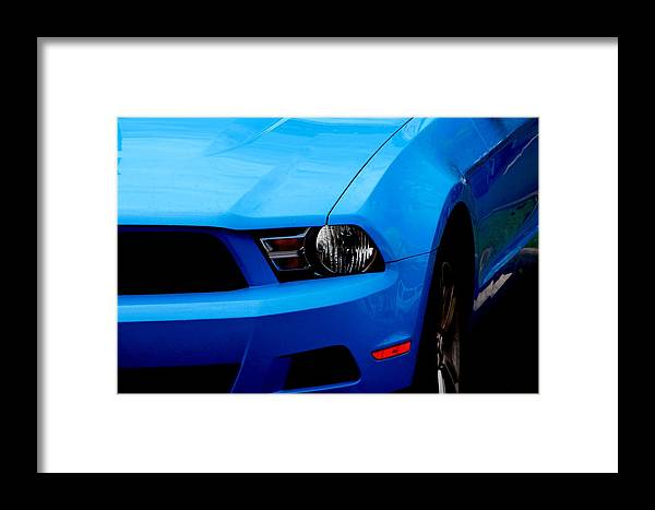 Mustangs Framed Print featuring the photograph Blue Beauty 002 by Elizabeth Doran