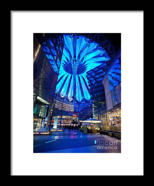 Sony Center Framed Print featuring the photograph Blue Berlin by Mike Reid