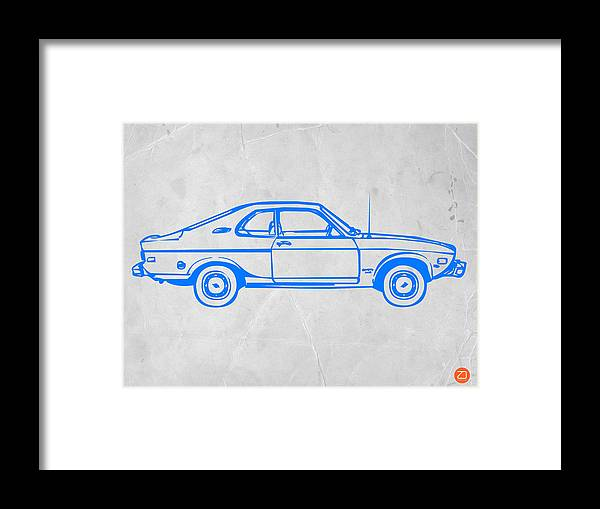 Auto Framed Print featuring the photograph Blue Car by Naxart Studio