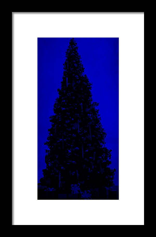 Blue Christmas Framed Print featuring the digital art Blue Christmas by J Burns