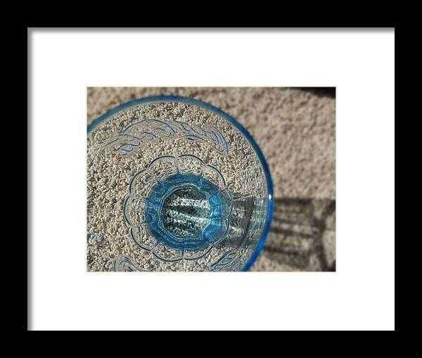 Glass Framed Print featuring the photograph Blue Coca Cola Glass 2 by Robin Cox