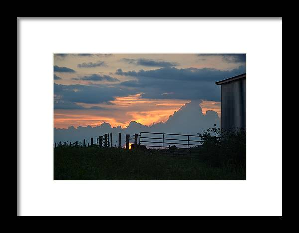 Sunset Framed Print featuring the photograph Blue Day by Valarie Davis