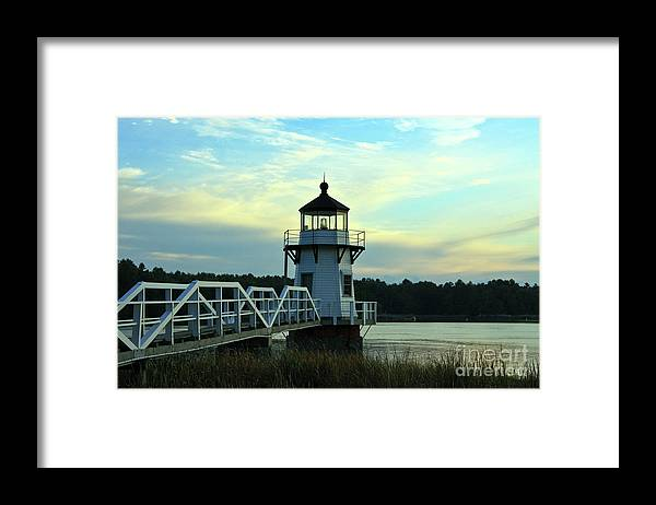 Doubling Light Framed Print featuring the photograph Blue Dusk by Brenda Giasson