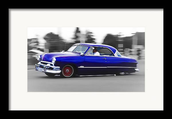 Ford Customline Framed Print featuring the photograph Blue Ford Customline by Phil 'motography' Clark