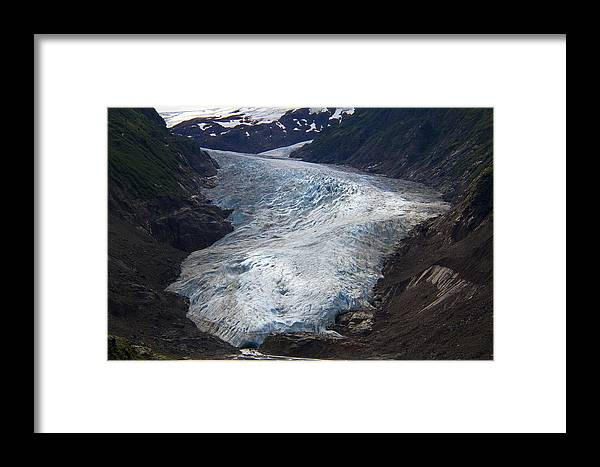 Alaska Framed Print featuring the photograph Blue Glacier by Kim French