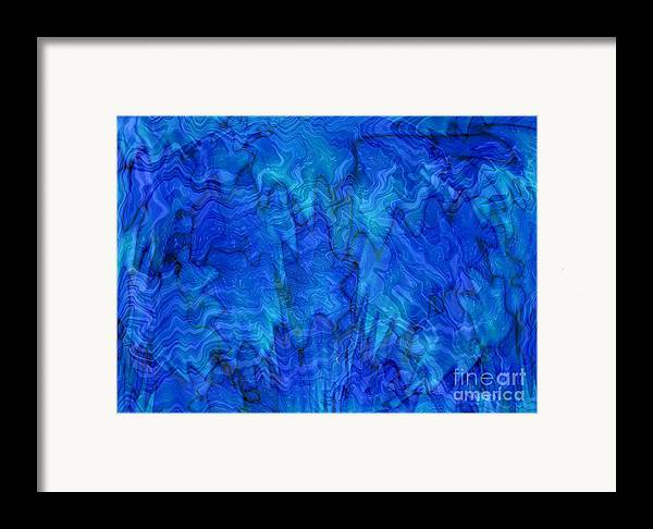 Blue Framed Print featuring the photograph Blue Glass - Abstract Art by Carol Groenen