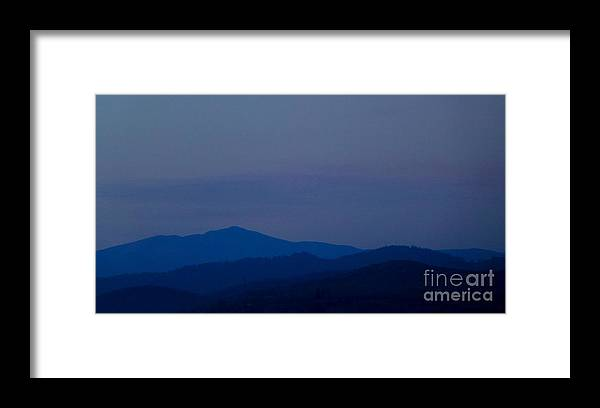 Mountain Framed Print featuring the photograph Blue Layers by Amalia Suruceanu