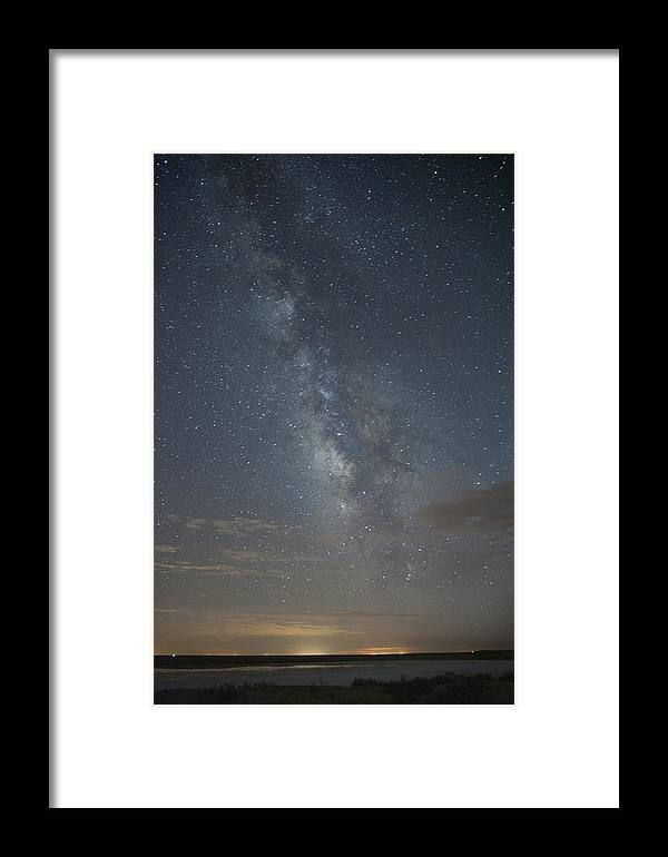 Beauty In Nature Framed Print featuring the photograph Blue Milky Way by Melany Sarafis