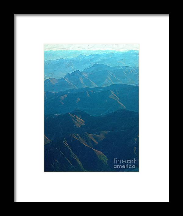 Blue Framed Print featuring the photograph Blue Mountains by Peggy Starks