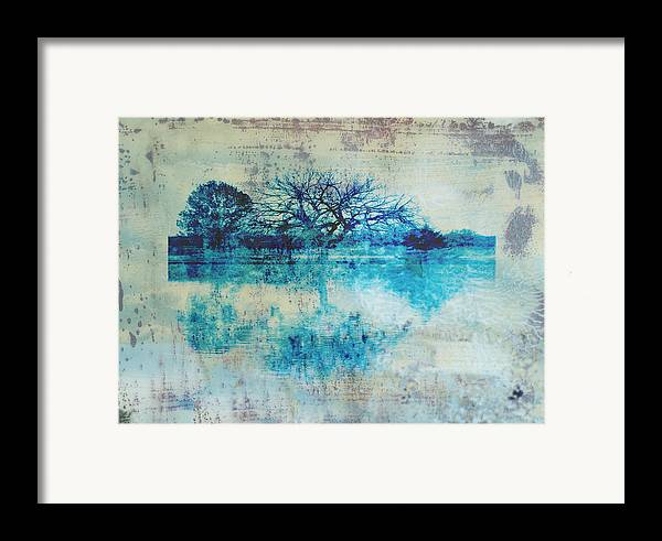 Blue Framed Print featuring the photograph Blue On Blue by Ann Powell