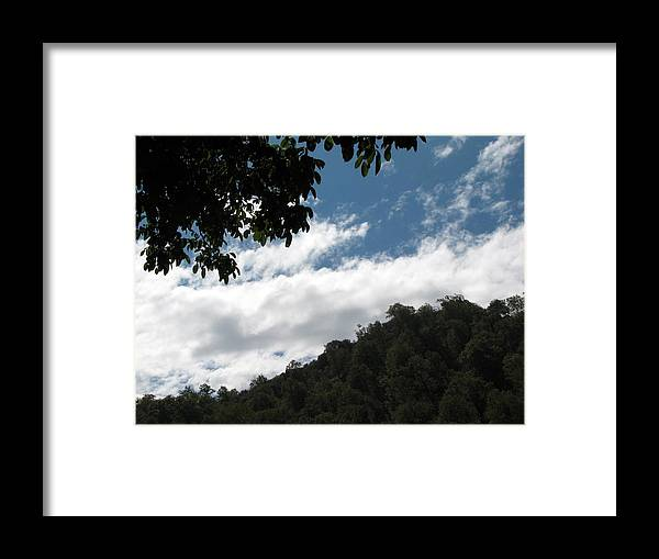 Sky Framed Print featuring the photograph Blue Sky And Clouds by Pamela Muzyka