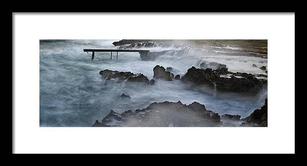 Beach Framed Print featuring the photograph Blue Storm..protaras by Stelios Kleanthous