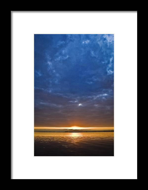 Saint Lucie Framed Print featuring the photograph Blue Sunrise by Patrick M Lynch