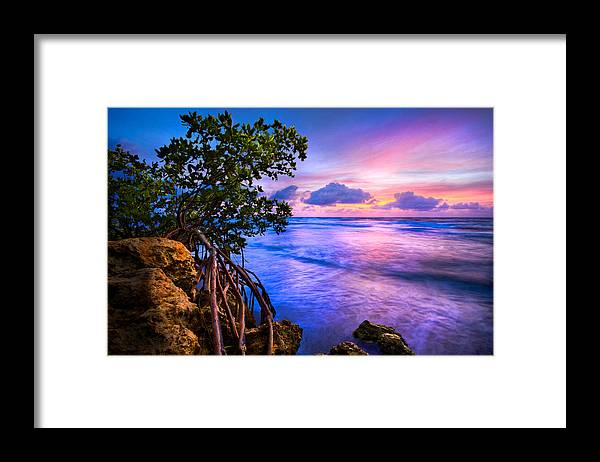 Clouds Framed Print featuring the photograph Blue Tide by Debra and Dave Vanderlaan