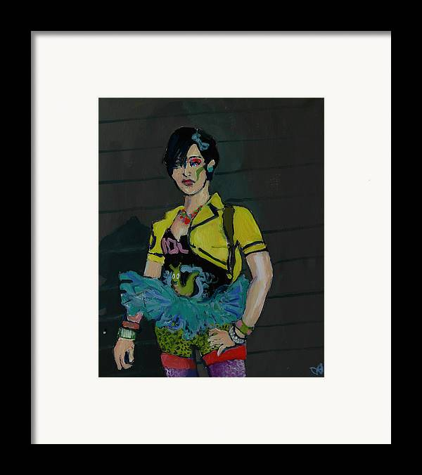 Girl Framed Print featuring the painting Blue Tutu by Adam Kissel