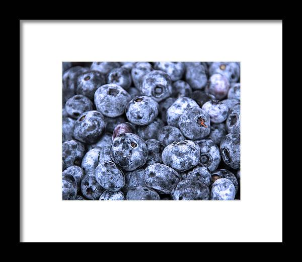 Berry Framed Print featuring the photograph Blueberries by Kim French