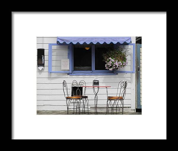 Ice Cream Framed Print featuring the photograph Blueberry Ice Cream by Tim Mangan