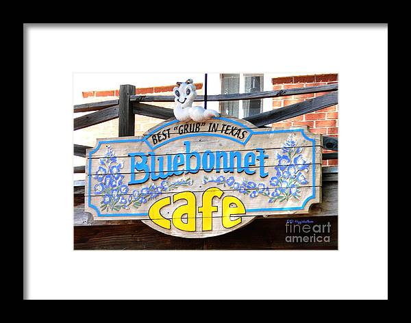 Cafe Framed Print featuring the photograph Bluebonnet Cafe by DiDi Higginbotham