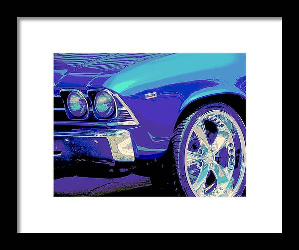 Chevy Framed Print featuring the photograph Blueman Group by Chuck Re