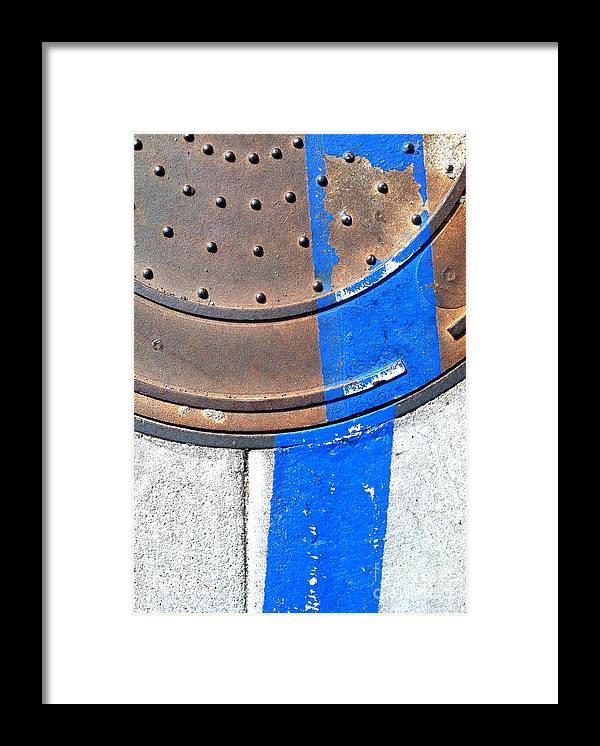 Marlene Burns Framed Print featuring the photograph Bluer Sewer One by Marlene Burns