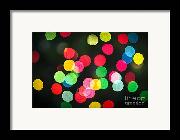 Blurred Framed Print featuring the photograph Blurred Christmas Lights by Elena Elisseeva