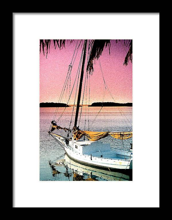 Tropical Framed Print featuring the photograph Boat Close by Linda Olsen