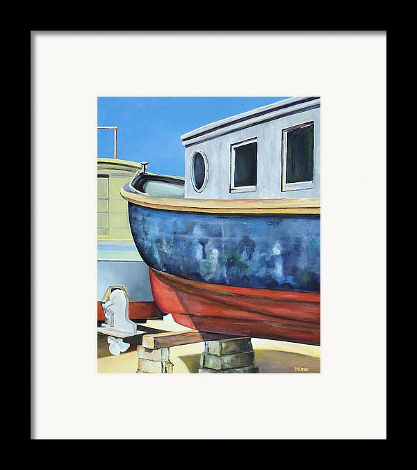 Boat Framed Print featuring the painting Boat Hull by Robert Henne