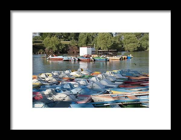 Boating Lake Framed Print featuring the photograph Boating Lake by Daniel Blatt