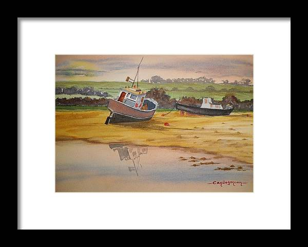 Boat Framed Print featuring the painting Boats by Can Dogancan