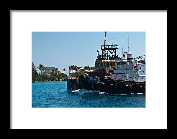 Framed Print featuring the photograph Boats In Nassua by Dominic Stringer
