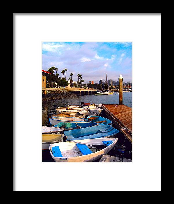 Boats Framed Print featuring the photograph Boats In The Bay by Ed Golden
