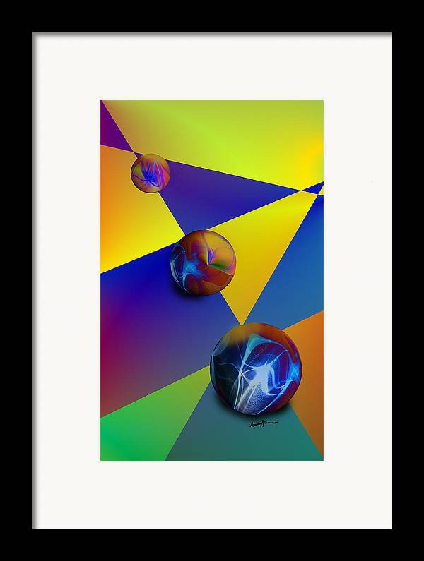 Abstract Framed Print featuring the digital art Bocce by Anthony Caruso