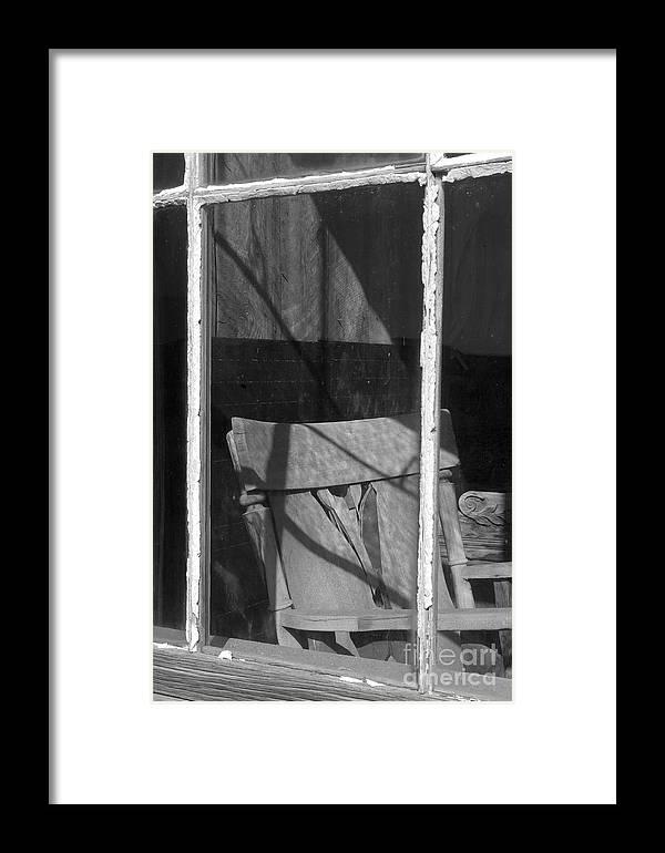 Sandra Bronstein Framed Print featuring the photograph Bodi Ghost Town Window by Sandra Bronstein
